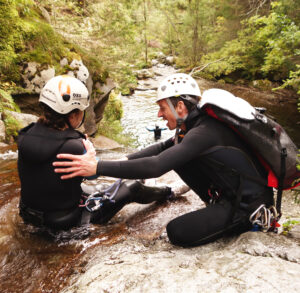 canyoning de chamonix en haute-savoie